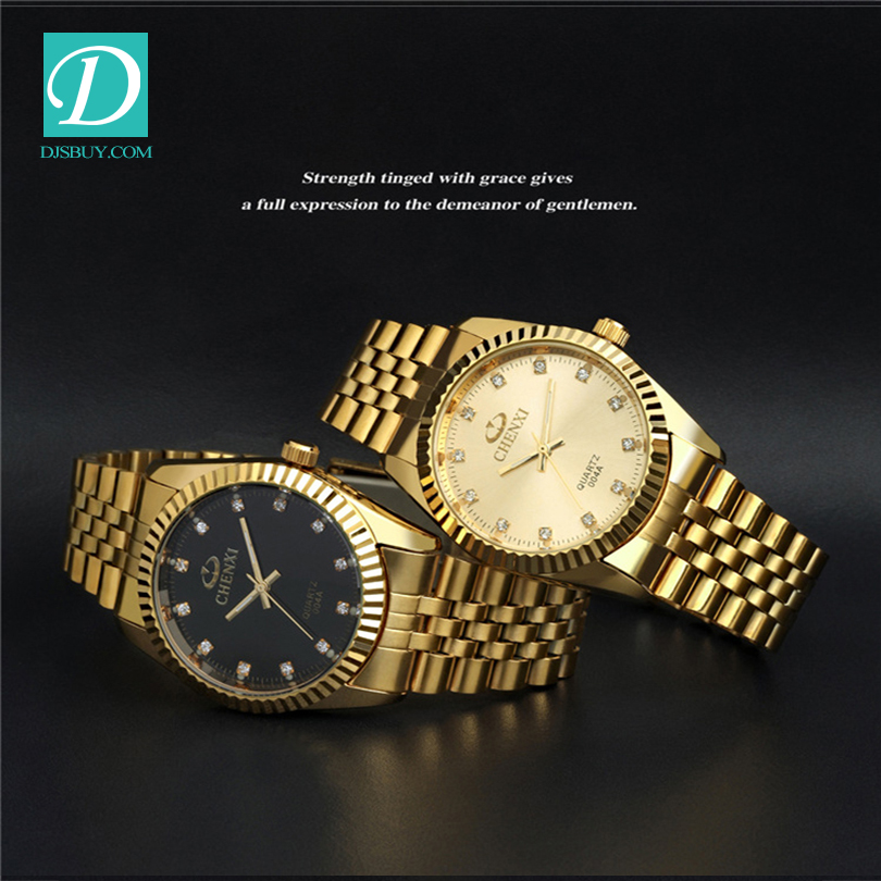 Current Gold Men's WatchTop Brand Full Stainless Steel Watch
