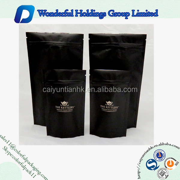 high quality matte surface standup pouch bags resealable bags zipper top food bags