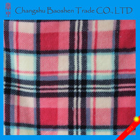 100% polyester grid printed coral fleece fabric super soft fabric cheap wholesale fleece fabric
