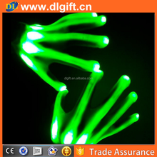 LED glove wide optical fiber glow glove for promotion