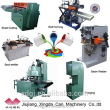 cylindrical round paint tin make can machine production line