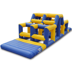 Giant high quality swimming pool inflatable obstacle course equipment inflatable water toys for the lake
