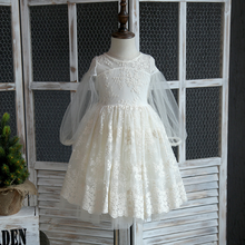 PHB51127 sweet lace high quality kids dress ball gowns for children