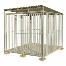 Outdoor large dog kennel with roof and floor 6' dog house hot dipped galvanized
