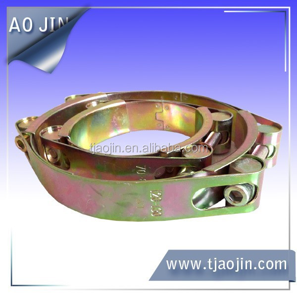 European type double bolt hose clamp