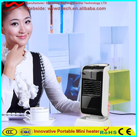 Square household items fashion electric ptc fan heater
