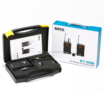 Tz BOYA BY-WM6 UHF Wireless Microphone System Omni-directional Lavalier Microphone for ENG EFP DV DSLR