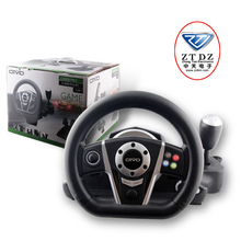 The most professional game accessories factory in china game car steering wheel for ps2/ps3/pc