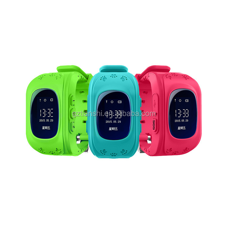 High quality 2G 3G SOS panic button tracker kids gps watch with micro SIM card