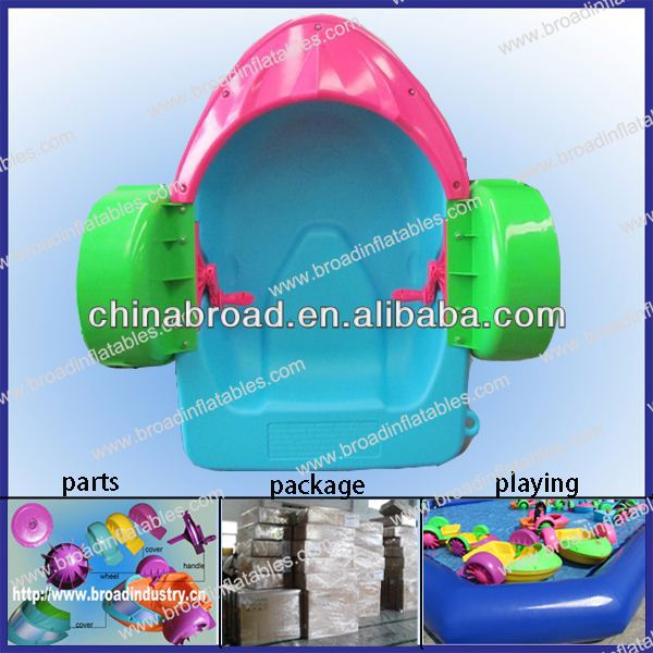 HOT!! aqua paddle boat,low price plastic fishing boat for kids