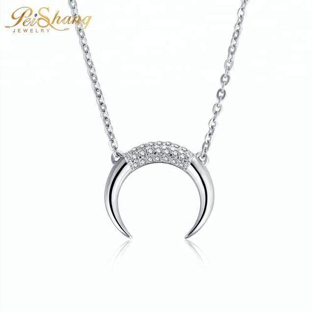 New style ladies accessories horn jewelry necklace