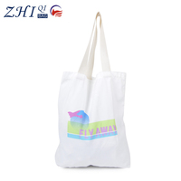 Custom logo printed cotton/canvas tote shopping bag