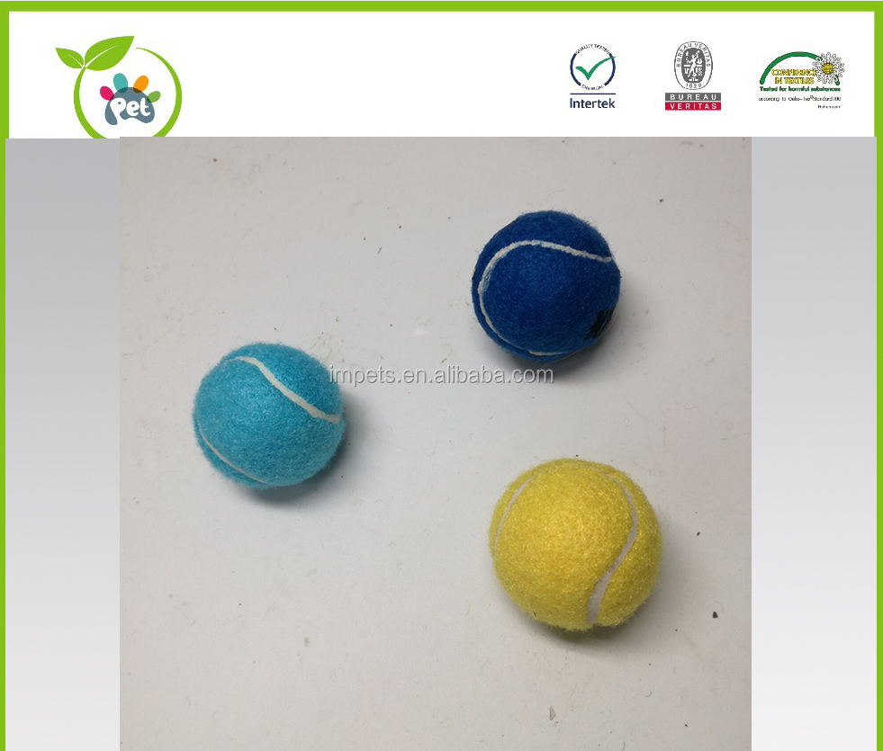 2.0 inches tennis ball fatch toy with and without squeaker,small dog tennis toy