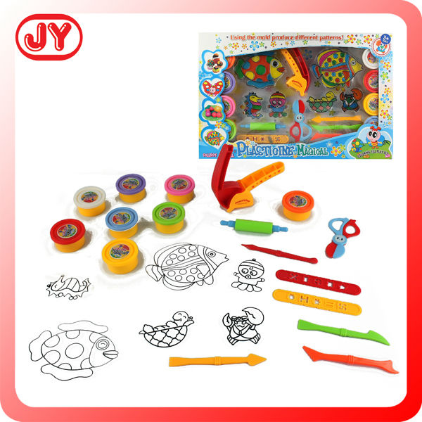 Colorful polymer clay set children play toy set