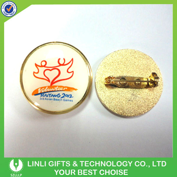 Logo Printed Epoxy Metal Pin Badge