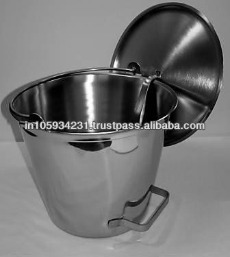 Industrial Stainless Steel Pails with tilting handle