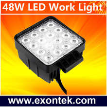 China auto parts imported led driving work lamp 48W 4x4 running lights 48W Tractor UTV Off Road 4WD