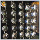 glass beads chain for weddings decoration octagon decorative crystal beads