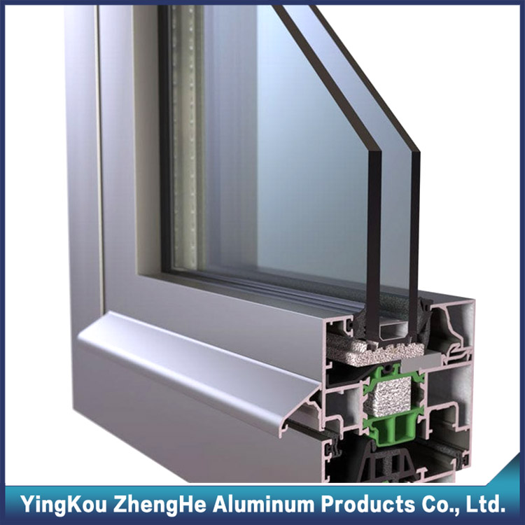double glazed aluminium extrusion profile window frame and glass