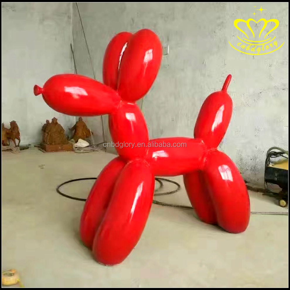 Outdoor decor modern metal stainless steel balloon dog sculpture for sale