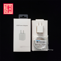 2 in 1set foxconn e75 cable 5ic chip with 5W usb power adapter us plug for IpHoNe 7S 8 PLUS X RS Charger cable