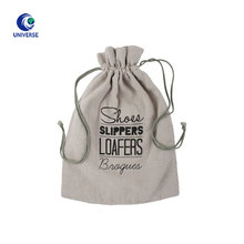 Custom Order Drawstring Linen Shoe Dust Bag With Printing Logo