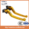 Motorcycle accessories Gold color factory customize brake clamp lever with folding for TUONO V4R/Factory RSV4/RSV4 FACTORY