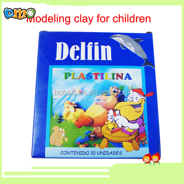 Children toy eco-friendly plasticine modeling clay with blue box design
