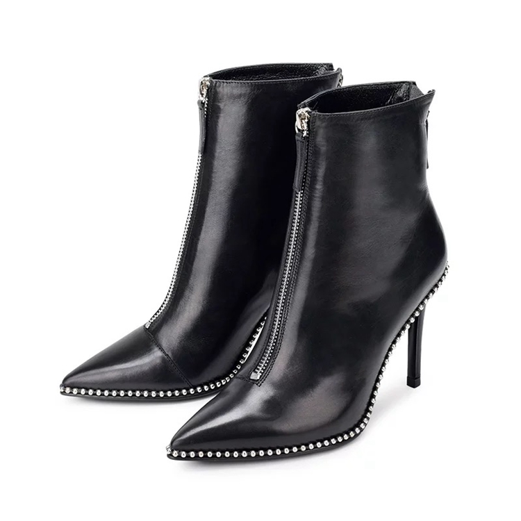 Ladies high heel <strong>boots</strong> women ankle <strong>boots</strong> pointed toe pearl shoes