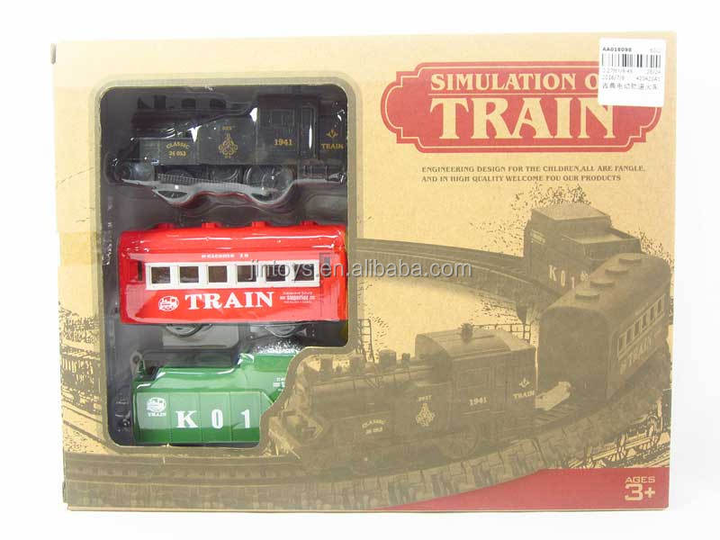 Toys for kids battery operated simulation classical electric toy train sets, electronic railway for wholesale, AA018098