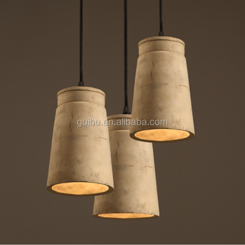 European style vintage cement chandelier led hanging lighting