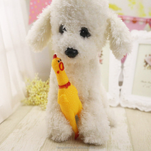 wholesale Funny Pet Dog Vent Chicken Creative Shrilling Chicken Sound Squeeze Screaming dog muzzle pet toys