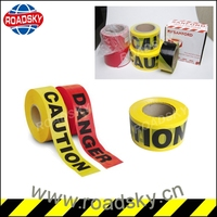 Traffic Safety Yellow Plastic Barricade Tapes