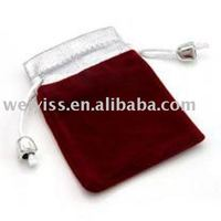 velvet pouch with rope