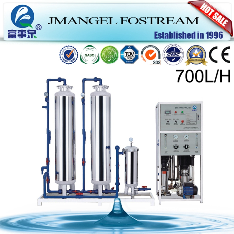 Customized mineral water processing plant, 3000l/h reverse osmosis water treatment machine