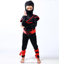 Child Ninja costumes Kids Boys Fancy Dress Up Party cosplay wholesale Halloween Costume