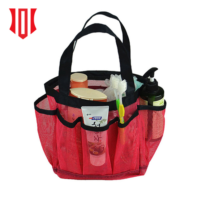 2018 China Product Wholesale Mesh Cosmetic Bag Toilet Bag Organizer Mesh Carry Bag For Beach Swimming