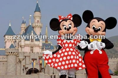 mickey and minnie mascot cartoon character costume