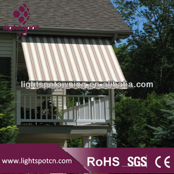 French style design aluminum waterproof awnings small window