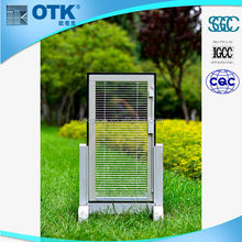New design fashion low price aluminum sliding window with roller shutter