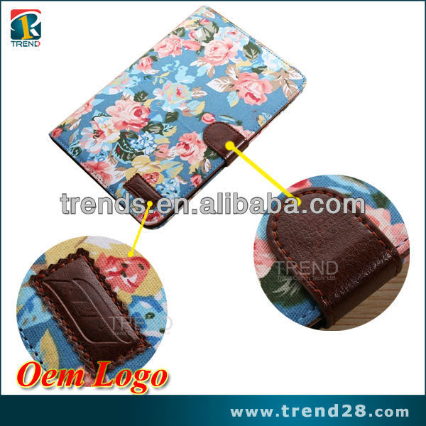 flower stand real jean tablet case for ipad mini 2