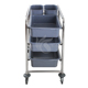 Factory stainless steel 304/201 detachable layers food metal service cart with wheels