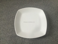 ZYC501 Best selling white ceramic square plate/Restaurant dinner plates/For home & hotel use plates