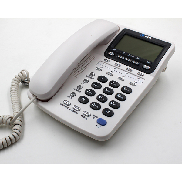 hotel caller id phone high quality corded basic home telephone microtel