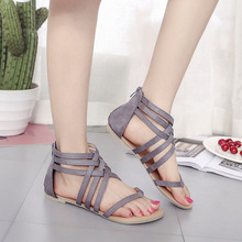 HFCS052 New design fashion roman style soft sole flat summer sandals women 2018