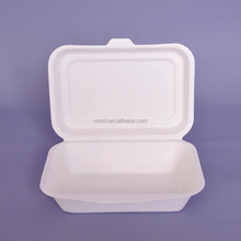 bagasse container/ biodegradable fast food packaging box