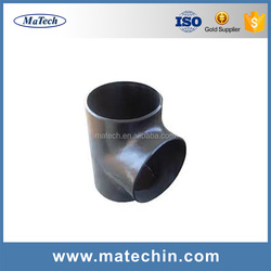 Factory Custom Made Black Iron Tee Pipe Butt Welded Fittings