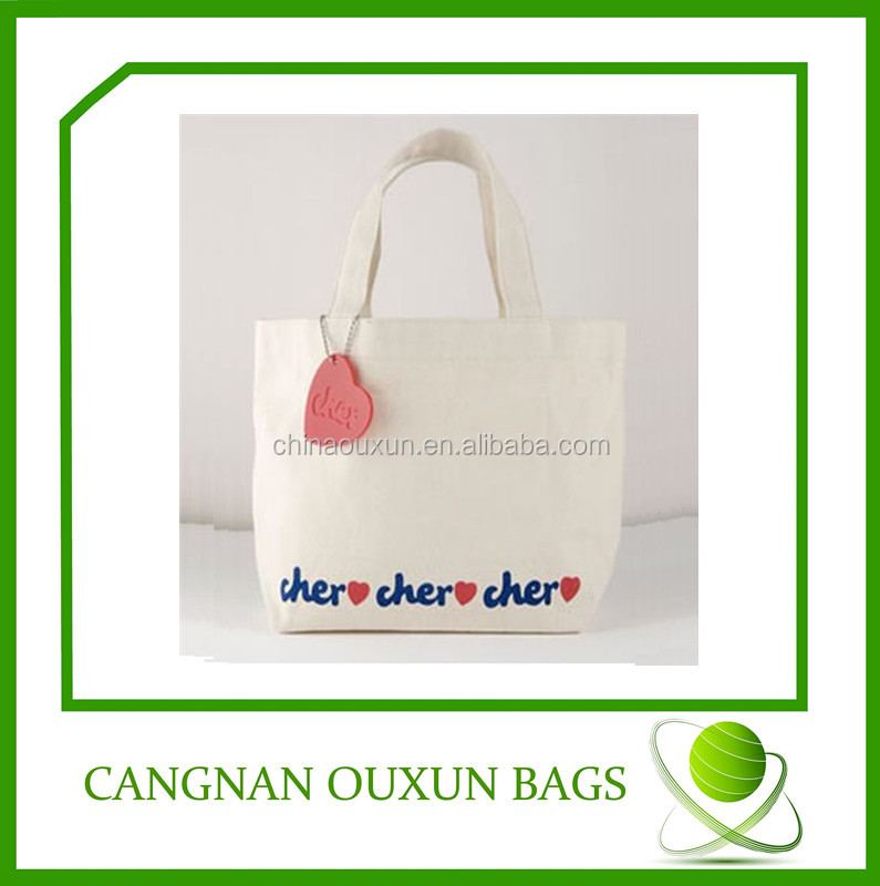 custom high quality eco cotton goody bags