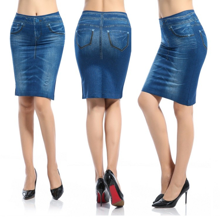 2017 Fashion Printed Jeans Skirt,Girls Mini Skirt Denim Skirt