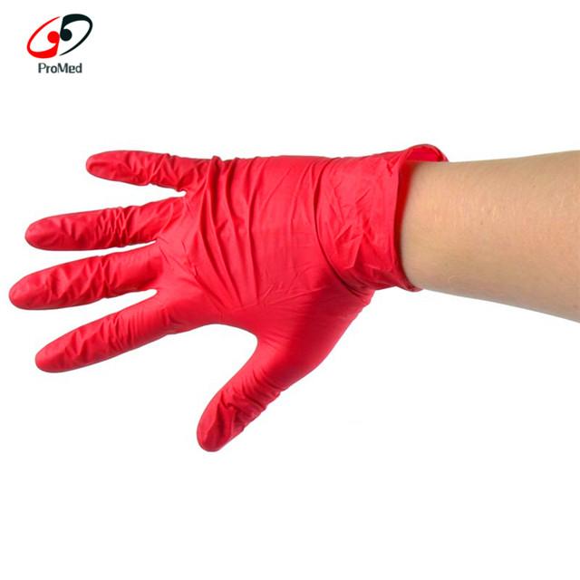 Latex Free Disposable Powder Free Black Pink Blue Nitrile Gloves